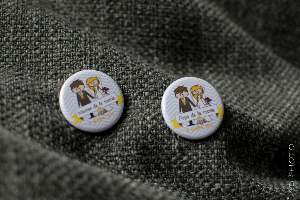 Badges personnalisés pour mariage
