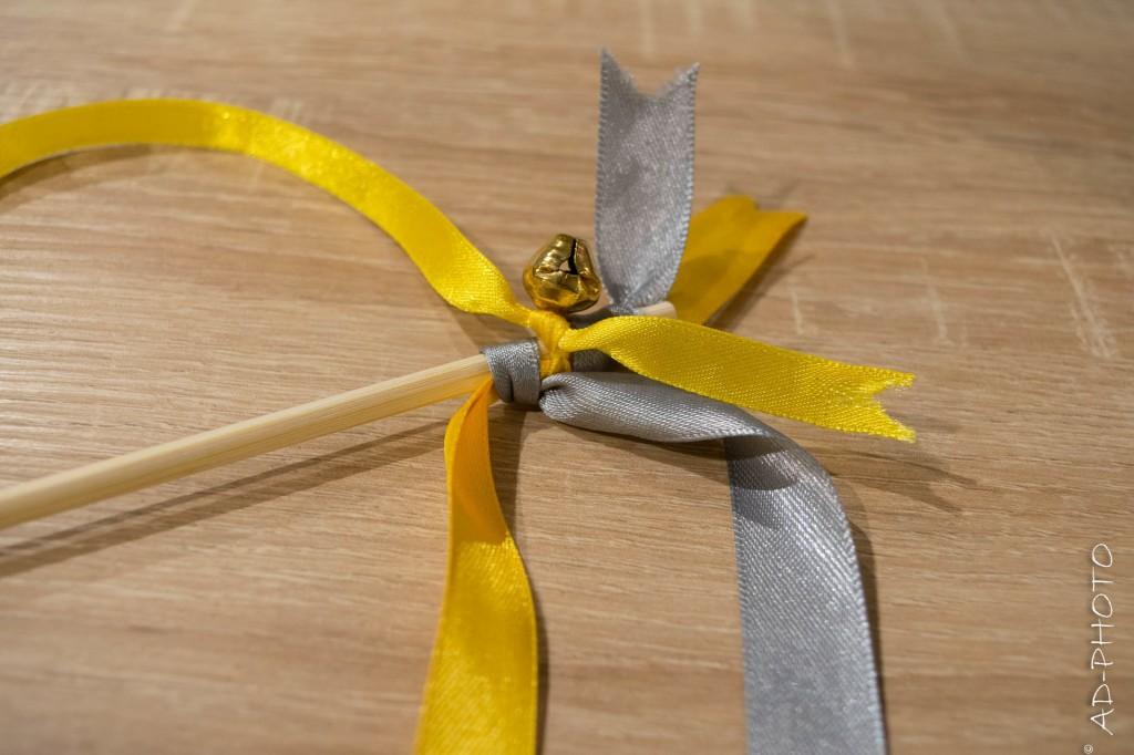 Baguette de ruban avec clochette - Mariage