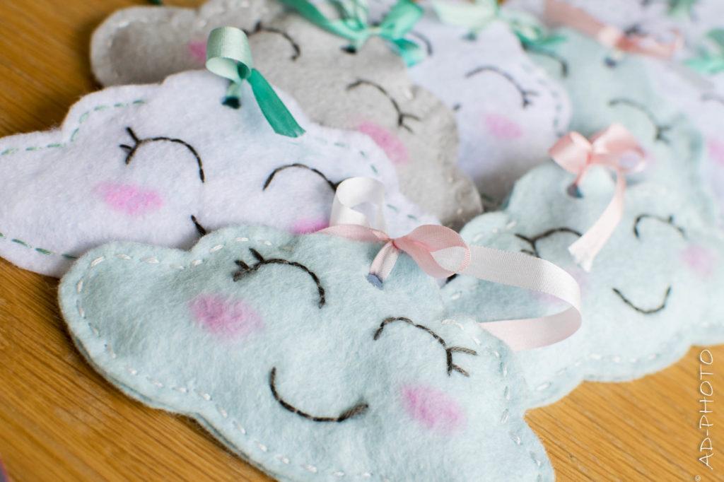 DIY Ballotin de dragées en forme de nuage pour baptême