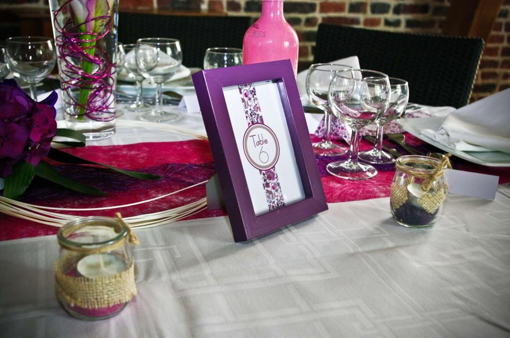 Cadre Liberty numéro de table de mariage