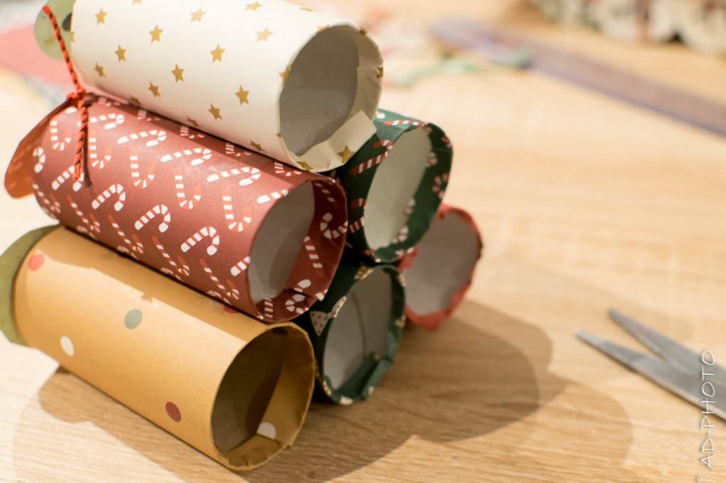 Verso des rouleaux de papier toilette pour calendrier de l'avent