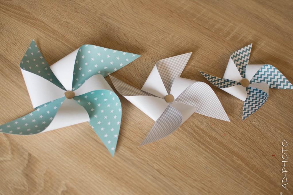 Moulins à vent en papier - DIY