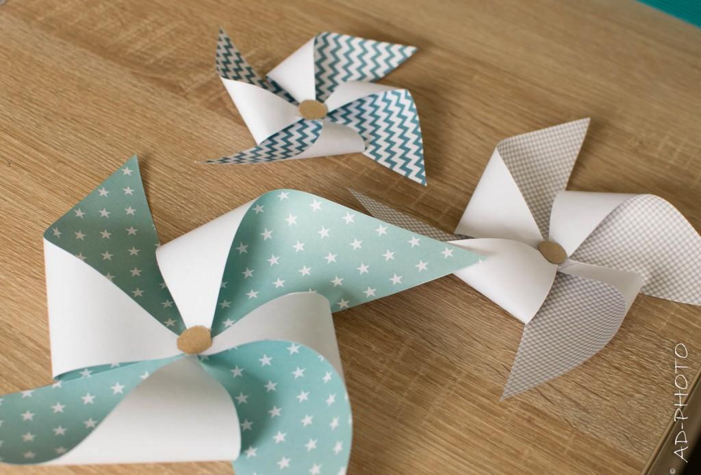 Moulins à vent en papier à réaliser soi-même
