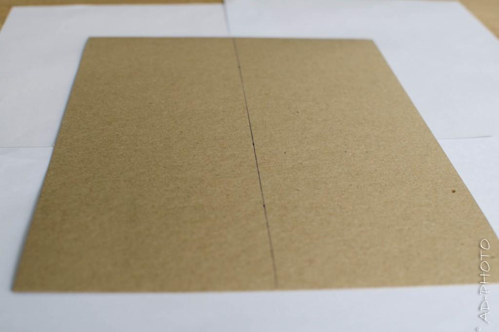 Feuille de papier Kraft pour réaliser un faire part de naissance ou de baptême