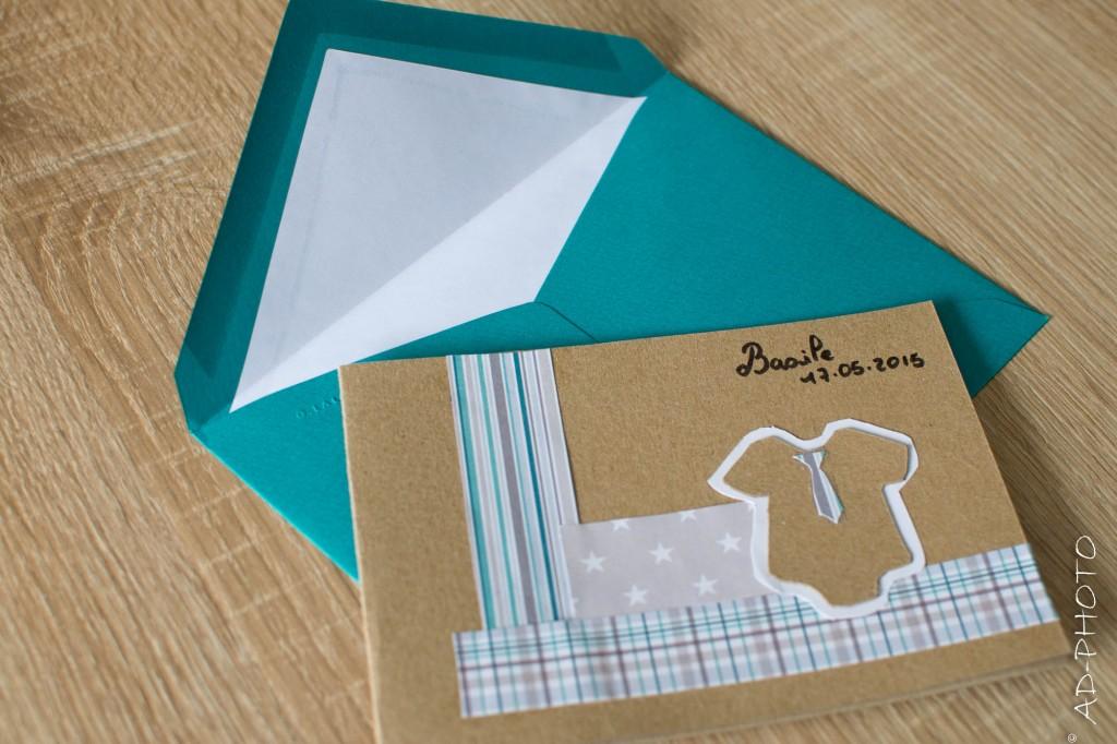 DIY - Faire part de naissance ou de baptême en papier kraft