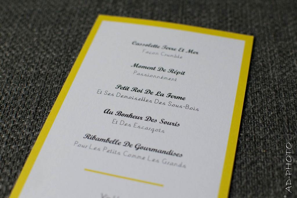 Idée de menu de mariage