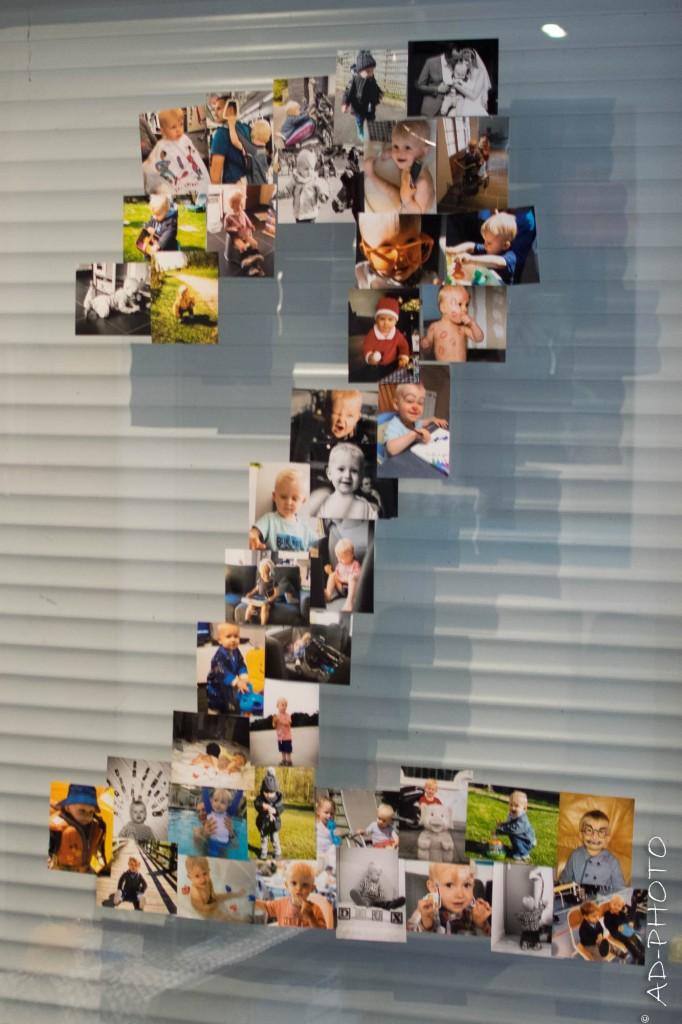 DIY : Décoration d'anniversaire, pêle-mêle de photos en forme de 2