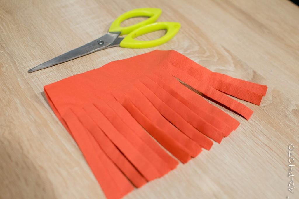 Franges Pompons en papier pour décoration d'anniversaire