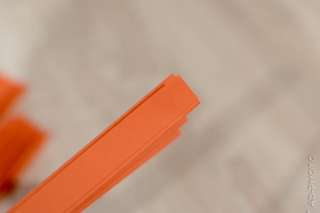 Pliage pour la réalisation de rosaces en papier