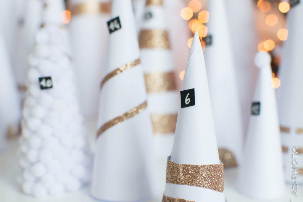 DIY : Calendrier de l'avent - Forêt de sapins - Noël - AD-Déco