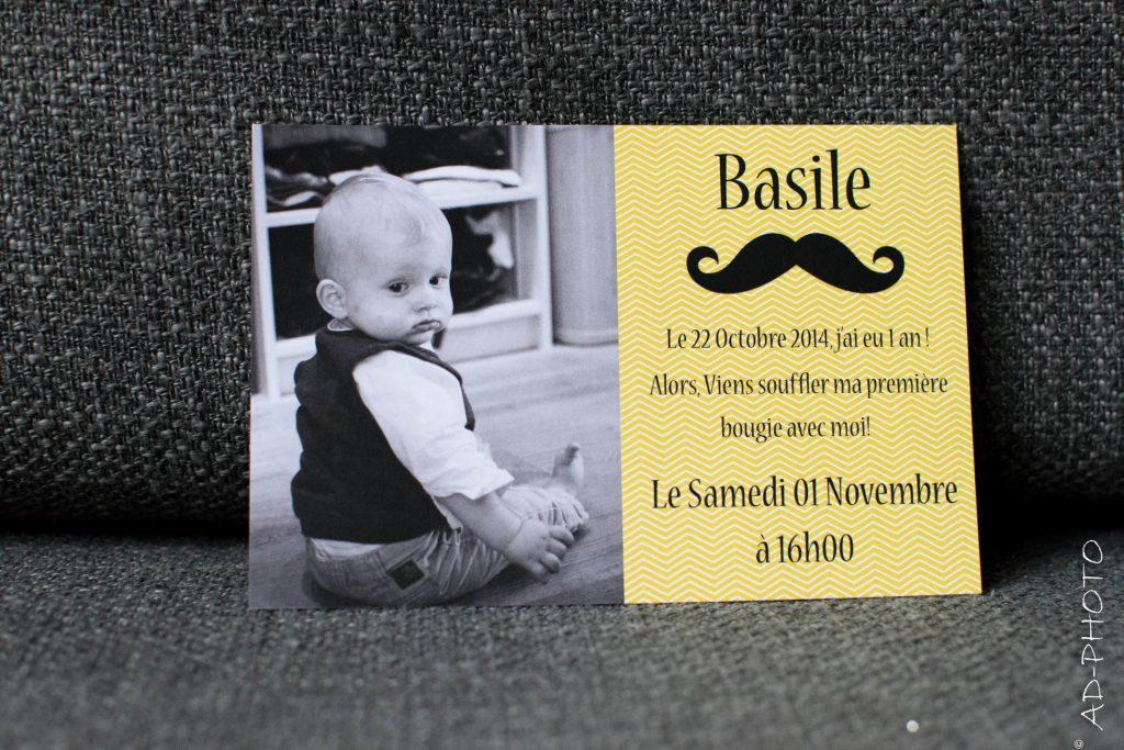 DIY : Carte d'invitation moustache