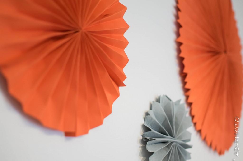 DIY : Réaliser des rosaces murales en papier